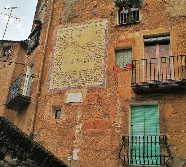 Relojes de sol en Porrera en Priorat en Tarragona
