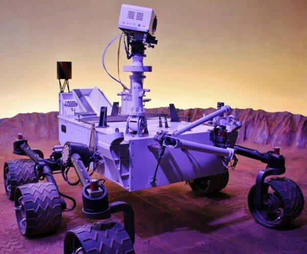 Maqueta de la nave Curiosity de Marte en Ciudad del Espacio en Toulouse