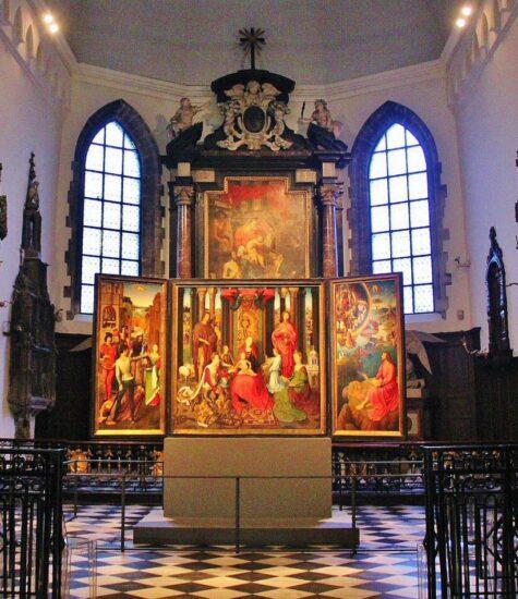Obras de arte en el Hospital de San Juan en Brujas