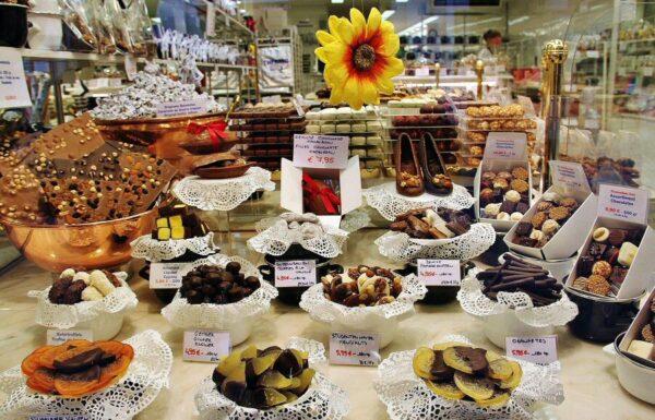 Tienda de chocolates en Brujas