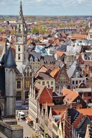 Vistas de Gante desde el campanario Belfort