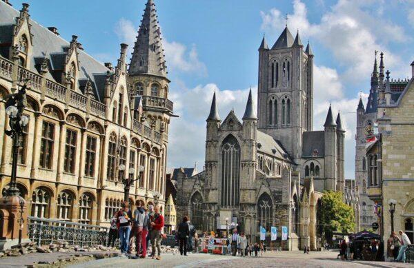 Rincón del centro histórico de Gante en Bélgica