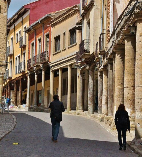 Galerías porticadas en Medina de Rioseco en Valladolid