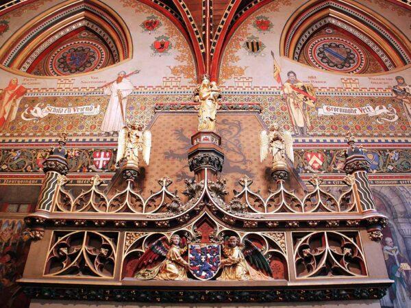 Sala Gótica en el Ayuntamiento de Brujas