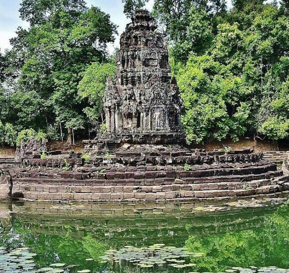 Templo de Neak Pean en Angkor en Camboya
