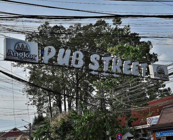 Pub Street en Siem Reap en Camboya