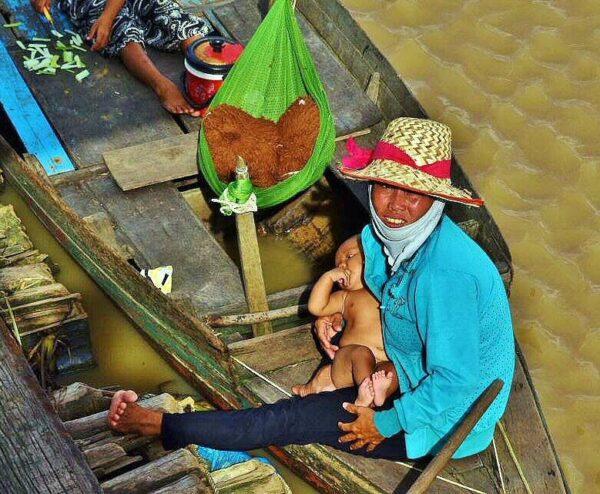 Pueblos de pescadores de Tonle Sap en Camboya