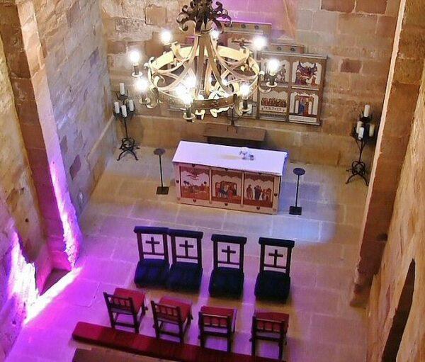 Capilla románica del castillo de Sigüenza, ahora parador nacional