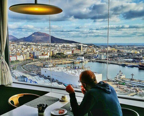 Puerto de Las Palmas desde Hotel AC Gran Canaria