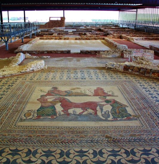 Museo de las Villa Romanas en Olmedo en Valladolid