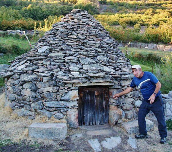 Choza de agricultor en El Torno en el Valle del Jerte