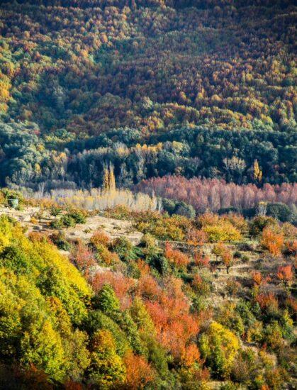 Paisajes del Valle del Jerte en otoño