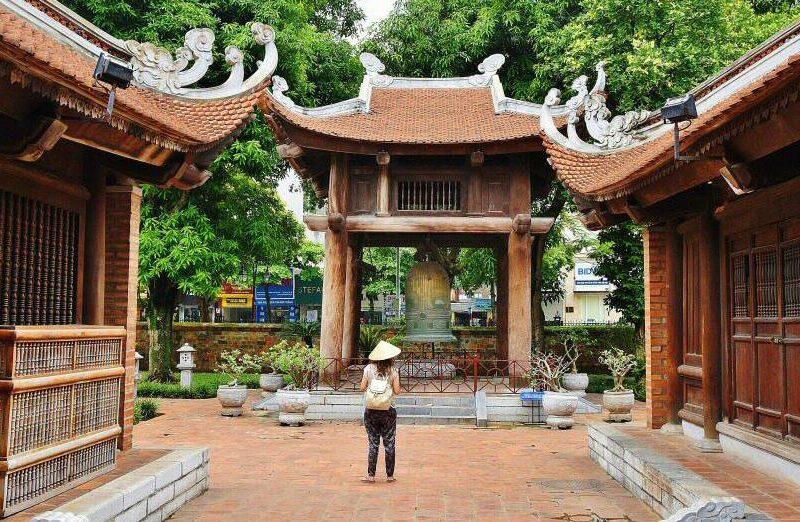Templo de la Literatura en Hanoi en Vietnam