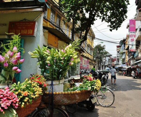 Barrio antiguo de Hanoi en Vietnam