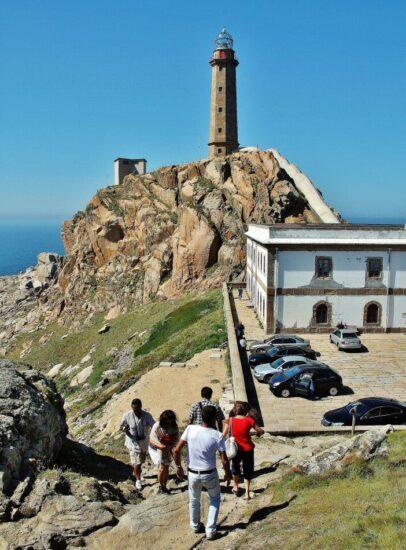 Faro de Cabo Vilán en Costa da Morte en Galicia