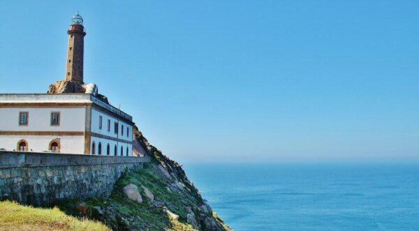 Faro de Cabo Vilán en la Costa da Morte en Galicia