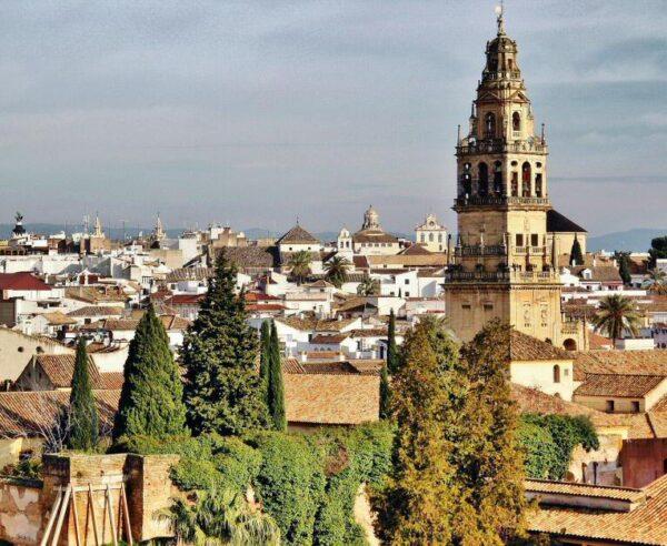 Vistas panorámicas de Córdoba desde Alcázar Reyes Cristianos