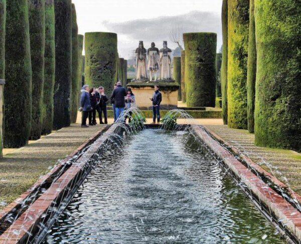 Jardines del Alcázar de los Reyes Cristianos en Córdoba