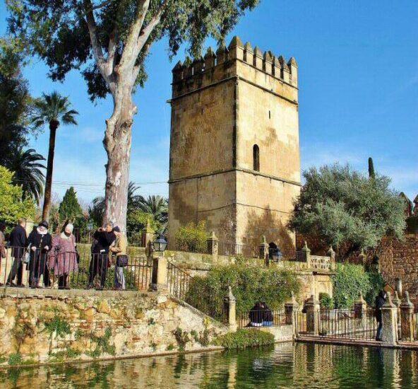 Torre de los Leones en Alcázar de los Reyes Cristianos en Córdoba