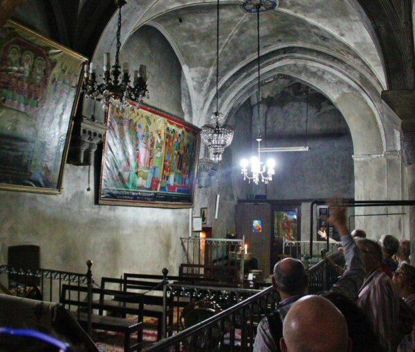 Capilla copta en la Basílica del Santo Sepulcro en Jerusalén