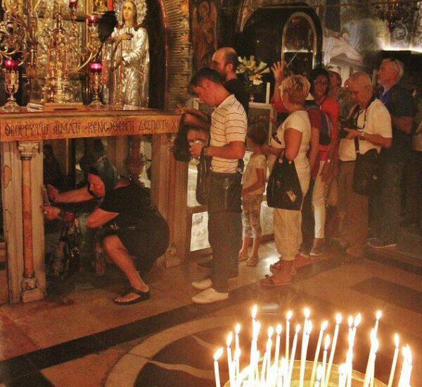 Capilla de la Cruxifición en el Santo Sepulcro en Jerusalén