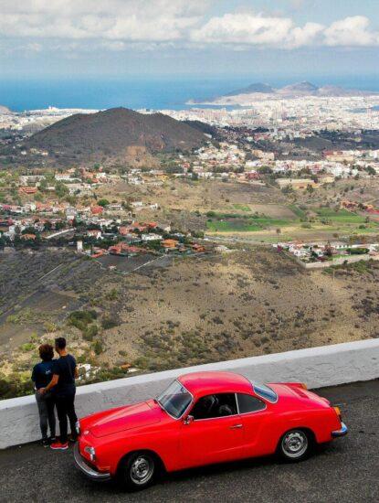 Vistas de Las Palmas de Gran Canaria desde el mirador de Bandama