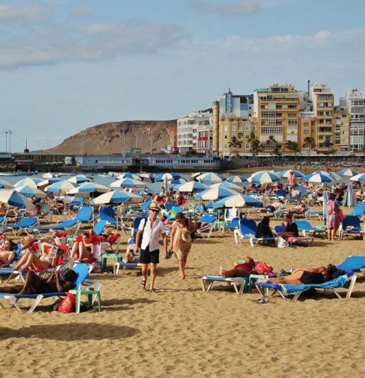 Playa de las Canteras en Las Palmas de Gran Gran Canaria