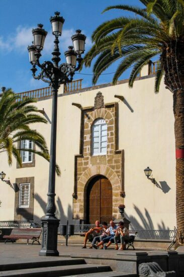 Plaza de Santa Ana en Vegueta en Las Palmas de Gran Canaria