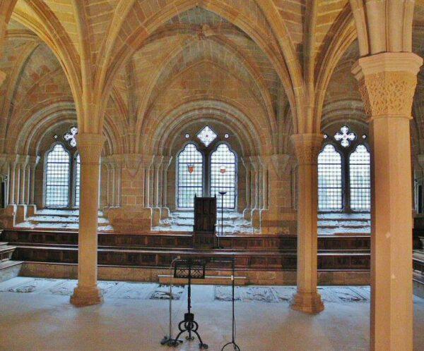 Sala Capitular del monasterio de Poblet en Tarragona