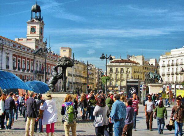 Puerta del Sol en Madrid en España