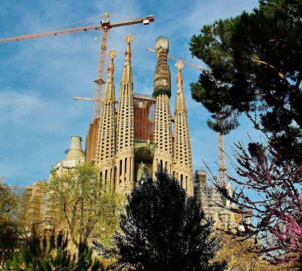 Sagrada Familia en Barcelona en España
