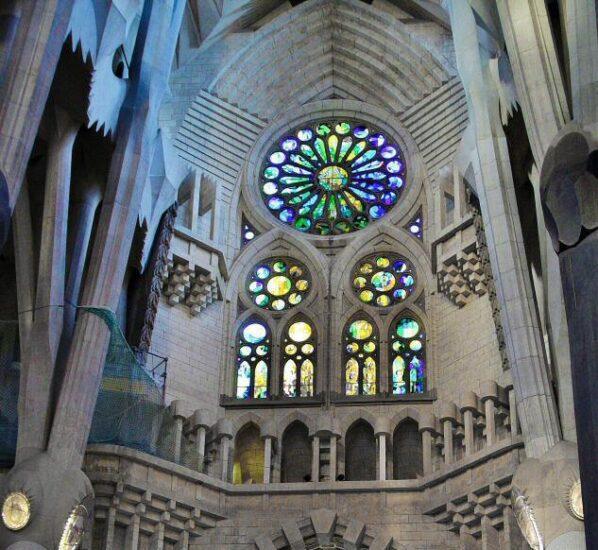 Interior de la Sagrada Familia en Barcelona