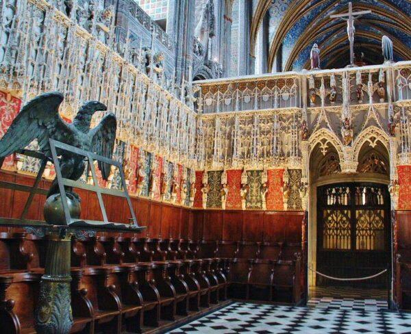 Coro de la catedral de Albi al sur de Francia