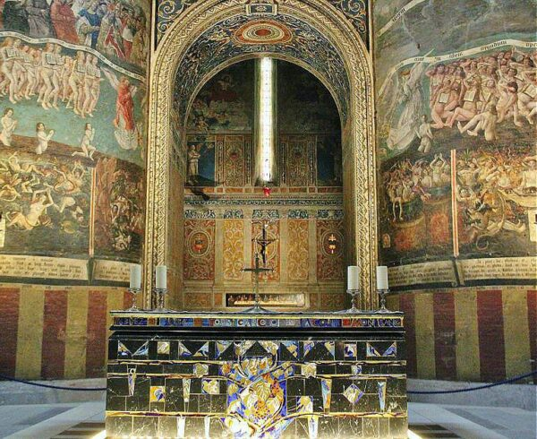 Pintura Juicio Final en la catedral de Albi al sur de Francia