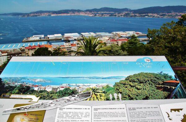 Mirador del parque del Castro en Vigo