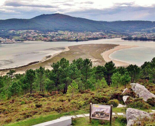 Estuario del Anllóns en Costa da Morte en Galicia