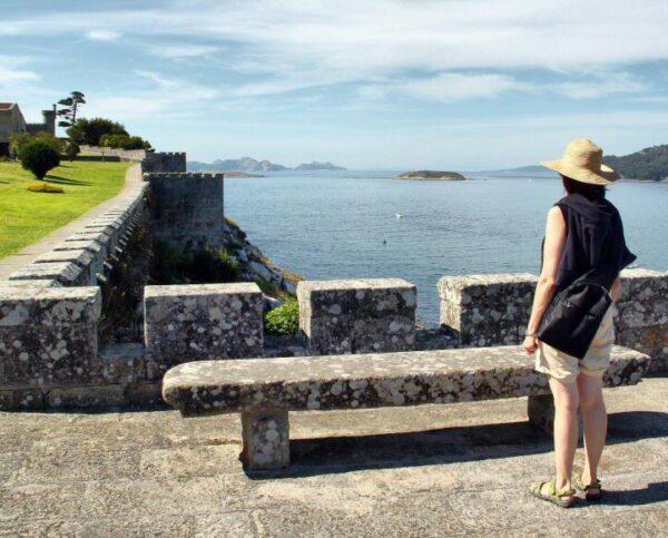 Fortificación en el parador nacional de Bayona en Galicia