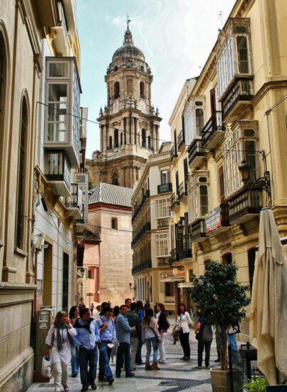 Rincón del centro histórico de Málaga en Andalucía