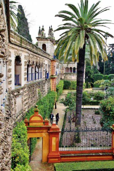 Reales Alcázares en Sevilla en Andalucía