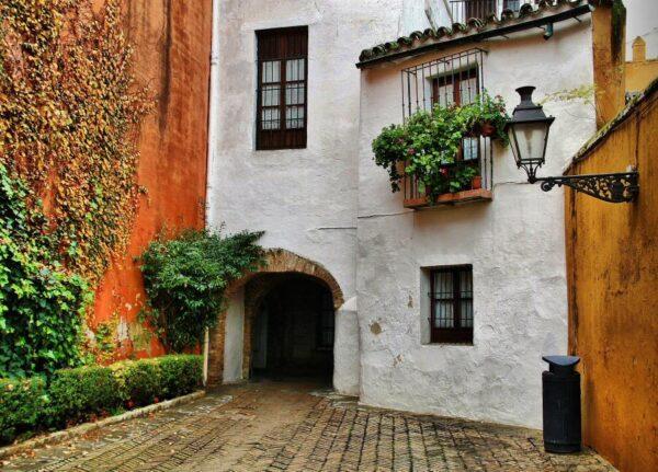 Barrio de Santa Cruz en Sevilla en Andalucía