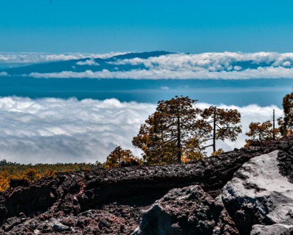 Vistas desde la isla de Tenerife