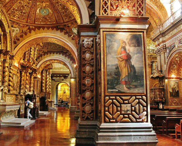 Iglesia de la Compañía en Quito en Ecuador
