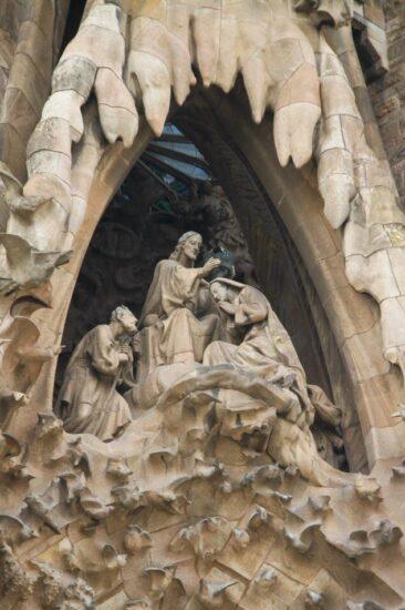 Portada del Nacimiento en la Sagrada Familia en Bardelona