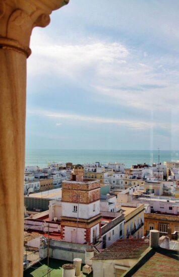 Vistas del centro de Cádiz desde la Torre Tavira