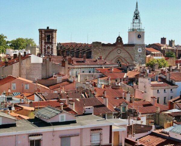 Vistas de Perpiñán desde el Castillet