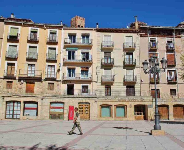 Plaza de España en Molina de Aragón en Guadalajara