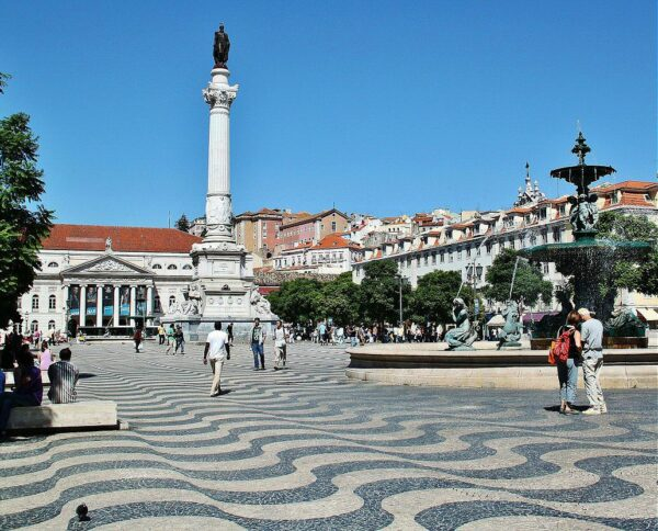 Plaza de Rossio en Lisboa en Portugal