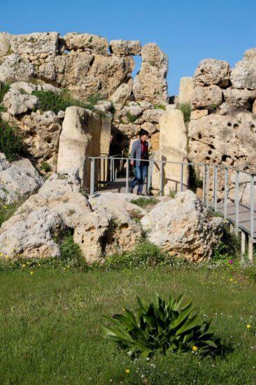 Templos megalíticos de Cgantija en Gozo en Malta