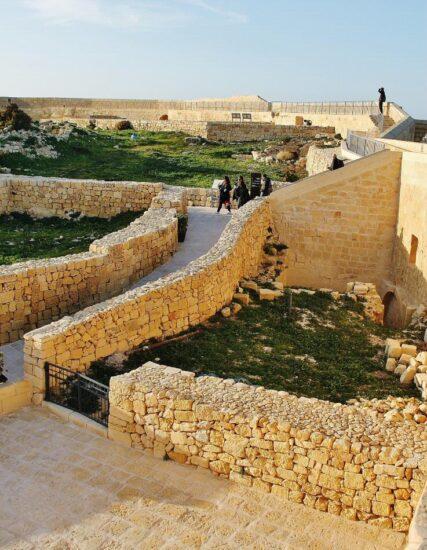 Ciudadela de Vitoria en la isla de Gozo en Malta