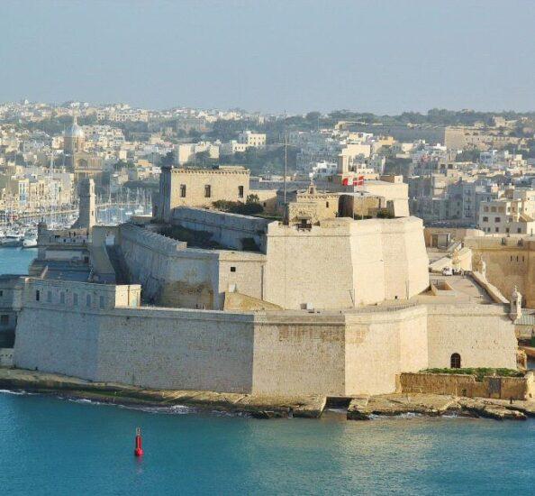 Fuerte de San Angelo en Birgu en Malta